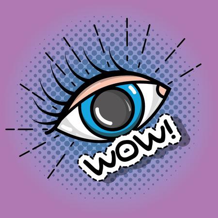 fashion eye pop art patch