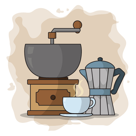 Coffee grinder and kettle