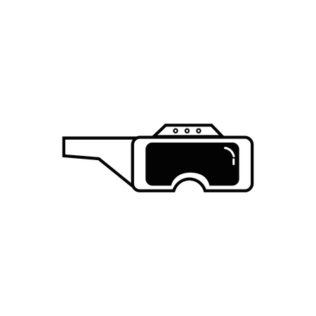 line 3d glasses technology object to entertainment vector illustration