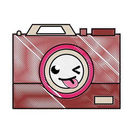 Grated funny camera technology kawaii cartoon Иллюстрация