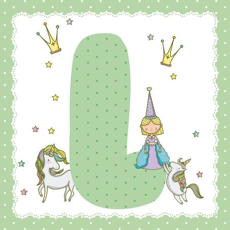 L alphabet letter for kids Banco de Imagens - 96170826