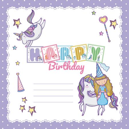 Happy birthday card for little girl