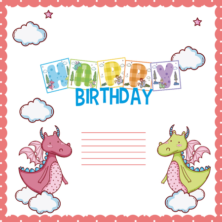 Happy Birthday Card For Little Boy Vector Illustration Royalty Free