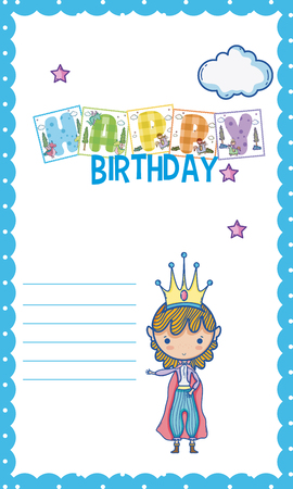 Happy Birthday Card For Little Boy Royalty Free Cliparts Vectors