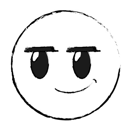 Grunge rogue face gesture symbol expression vector illustration