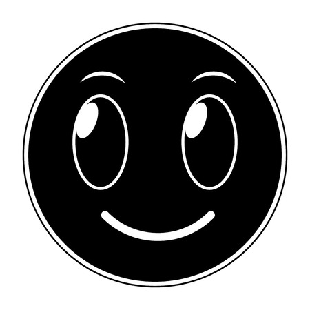 Silhouette of emoji expression Illustration