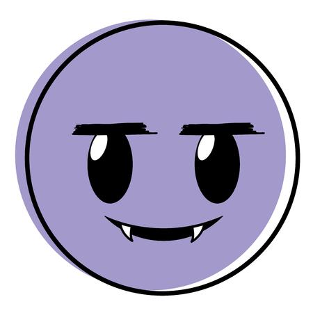 moved color vampire face gesture emoji expression 일러스트