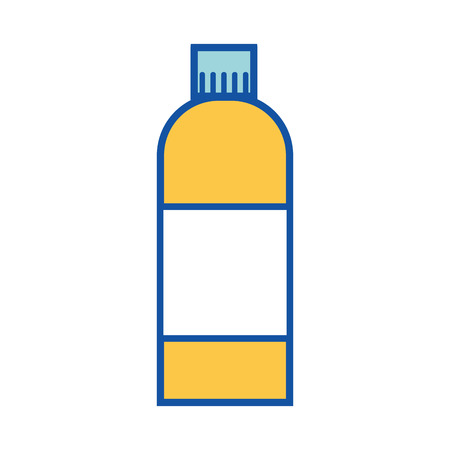 liquid bleach in bottle design to clean vector illustration