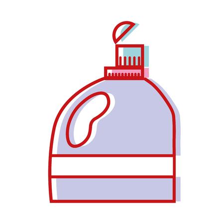 nice softener in bottle style design vector illustration