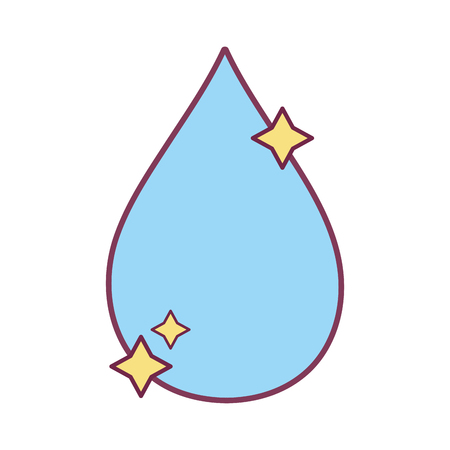 nice water drop with stars design vector illustration Illustration