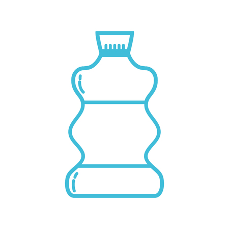 line liquit bleach in bottle design to clean vector illustration