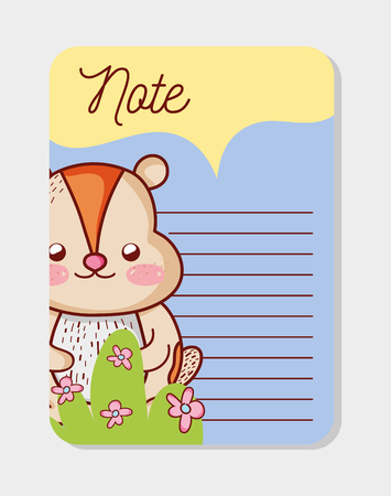 Cute animal paper notes