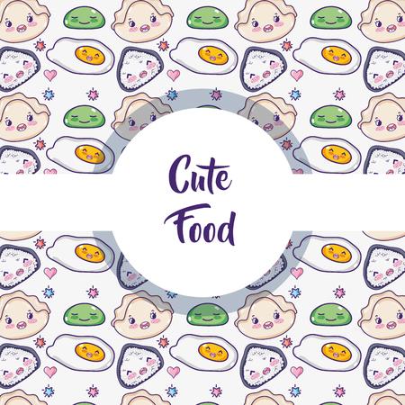Japanese food background pattern vector illustration graphic design Illustration
