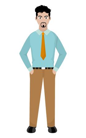 elegant man with shirt and tie design vector illustration
