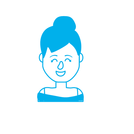 Silhouette beauty woman with hairstyle design and blouse