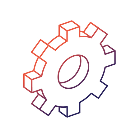 Line Gear Industry Technology Information Icon Royalty Free Cliparts