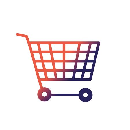 Line technology shopping car to buy online Illustration