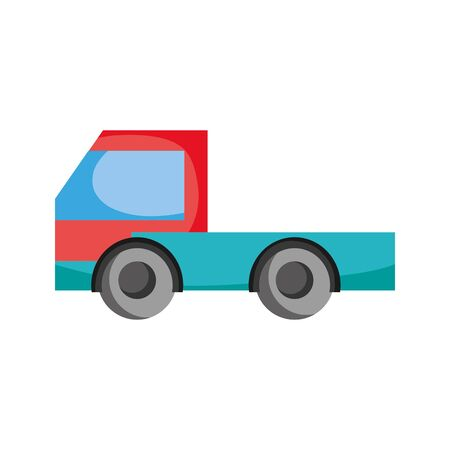 Hand drawn industry truck Illustration
