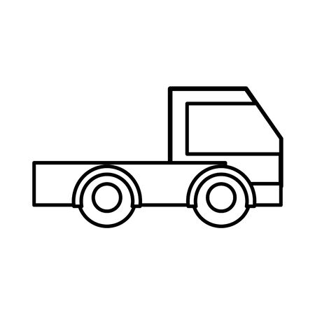 Line industry truck vehicle vector illustration