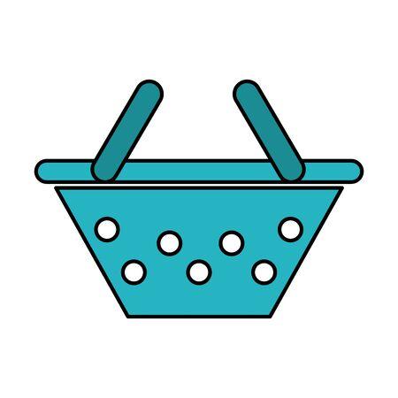 Line colored shopping basket design
