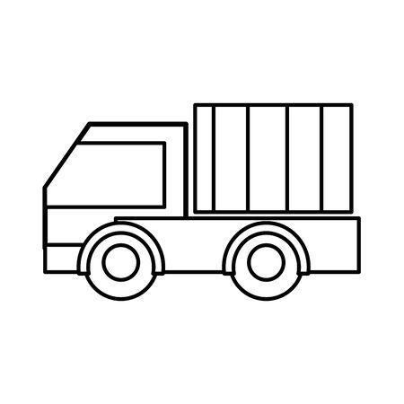 Line truck vehicle vector illustration