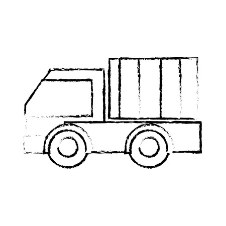 Grunge truck vehicle transportation to business delivery