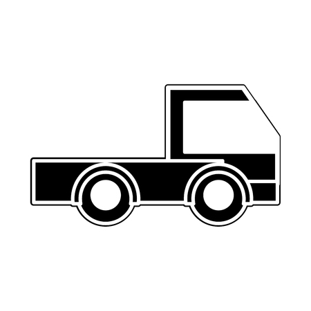 silhouette industry truck vehicule transportation car