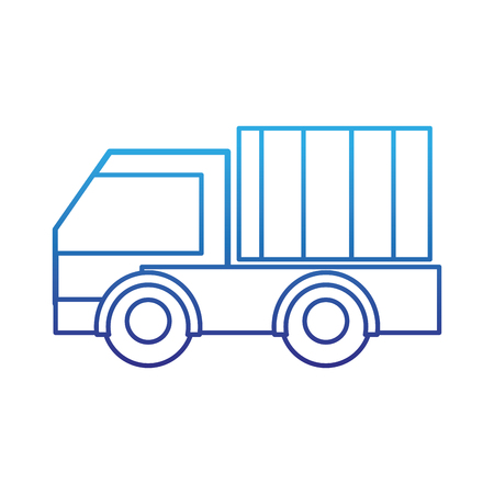 Degraded line truck vehicle transportation for business delivery