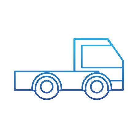 Degraded line industry truck vehicle transportation