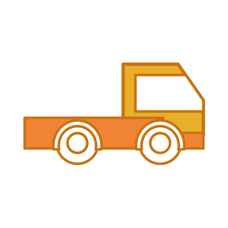 color industry truck vehicule transportation car vector illustration Illustration