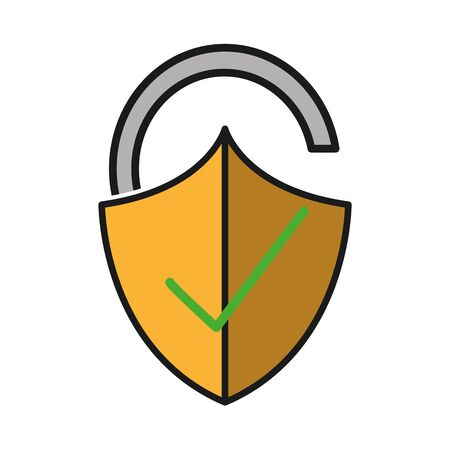 open padlock shield with good protection