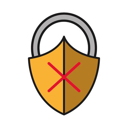 close padlock shield with bag protection