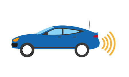 color shadow vehicle transport with speed wheel drive Illustration