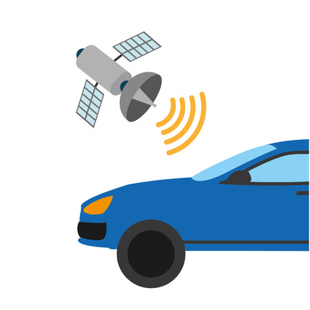 Automobile with satellite wifi connection technology