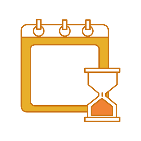 Calendar with hourglass illustration
