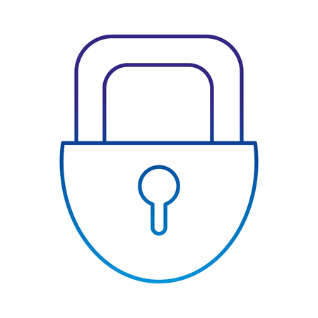 degraded line padlock security object to privacy access