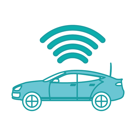 duo color car transport with digital wifi connection