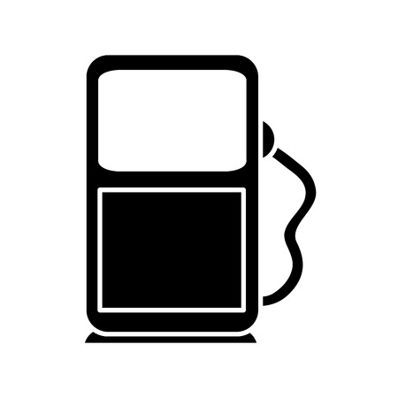 Silhouette of industrial gas station fuel production vector illustration Ilustração