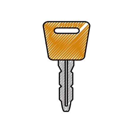 grated automobile key object to security alarm Illustration