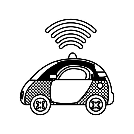 filling texture police car with digital wifi connection
