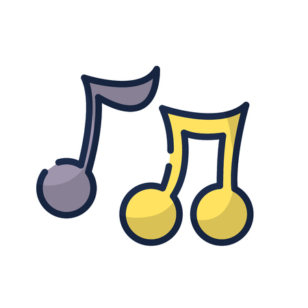 music notes tone with sound rhythm vector illustration