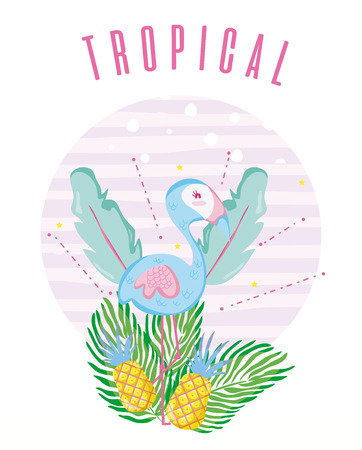 Tropical card concept design vector illustration graphic