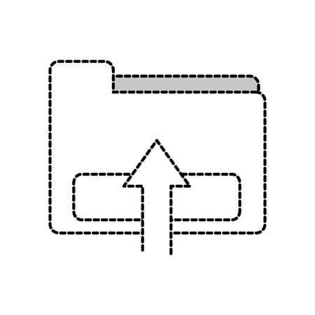 dotted shape file folder loading data information vector illuctration Vettoriali