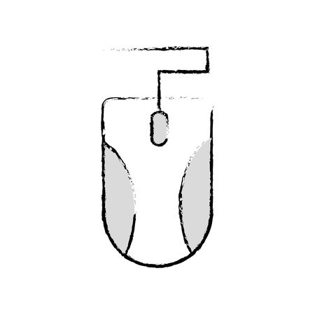 grunge mouse object technology that use with computer vector illustration