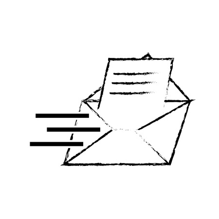 grunge letter e-mail message text style vector illustration 일러스트