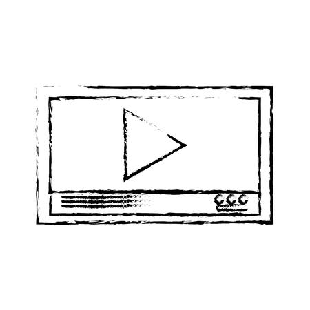 grunge web digital multimedia play video vector illustration