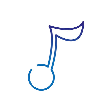 degraded line music note sign to sound rhythm vector illustration