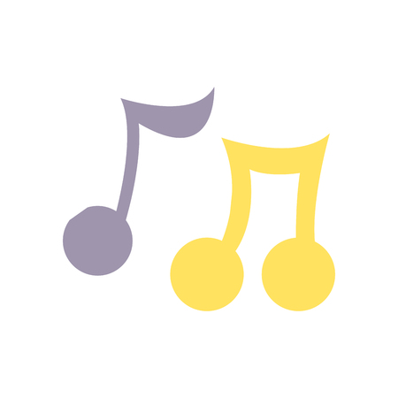 colorful music notes tone with sound rhythm