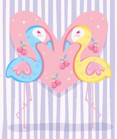 Punchy pastel flemish and fruits vector illustration graphic design Illustration