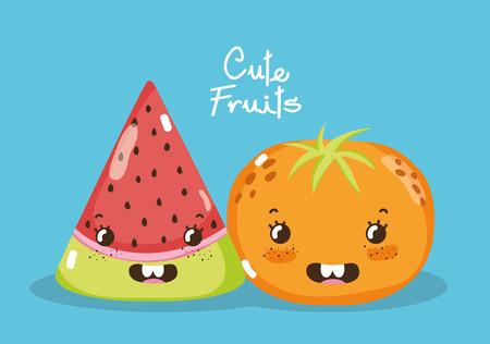 Leuke fruitcartoons Stockfoto - 96887617